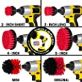 Cleaning Supplies - Drill Brush - The Ultimate Stiff Bristle Cleaning Attachment Kit - Outdoor - Fire Pit - Fountain - Scrub Brush - Garden - Patio - Grout Cleaner - Concrete - Marble - Headstones from Drillbrush