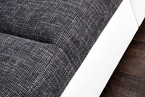 Design XXL Sofa BIG SOFA ISLAND in weiß grau charcoal Strukturstoff inkl. Kissen - 6