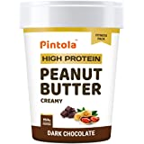Pintola HIGH Protein Peanut Butter (Dark Chocolate) (Creamy, 510g) | 30% Protein | High Fibre | NO Salt