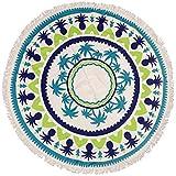 ZiXing Toalla de Playa Redondo Microfibra Tapiz de Pared Indian Mandala Manta de Playa Manta Multi