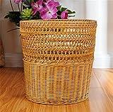 GMM® Cestini di rifiuti Cucina domestica True cestino di rattan Non può coprire soggiorno Botti di stoccaggio Ufficio Barrel di carta di scarto