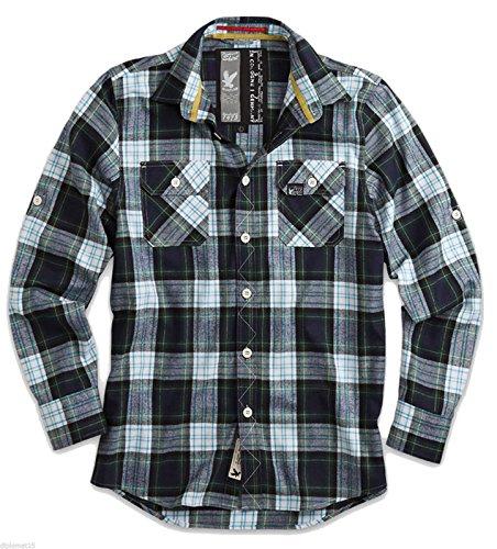 Lumberjack, Hemd, Langarm, Blautöne, L (Holzfäller Kostüm Männer)