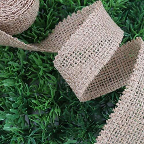 ALENAOO 2 Yards/roll Jute Sackleinen Band Natürliche Hanfband für DIY Tasche Material Hochzeit Handwerk Dekorative Geschenk Warrping, 01,80mm