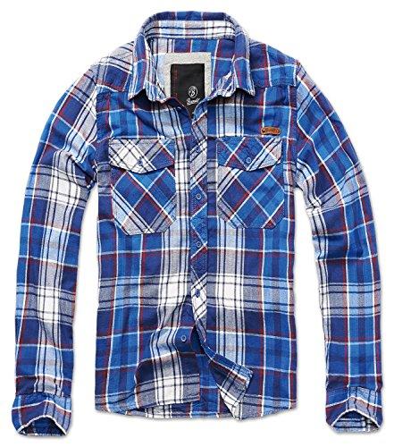 Brandit Check Shirt Blau S