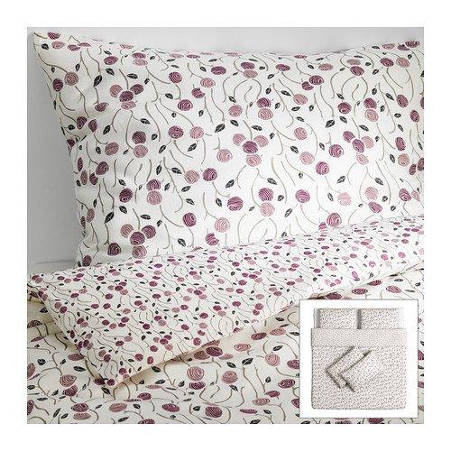 Ikea MAJVIVA -Bettbezug und Kissenbezüge 4 weiße Flieder - 240x220/50x80 cm