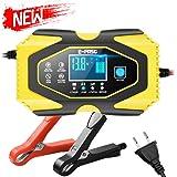 Directtyteam 12V6A 24V 3A Chargeur de Batterie de Voiture Batterie au Plomb-Acide au Lithium Chargeur de Batterie de…