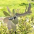 Edelstahl Windrad - Silhouette - extrem wetterfest - Windrad: Ø20cm, Motiv: 21x9cm - inkl. 70cm Standstab und Bodendübel von Colours in Motion bei Du und dein Garten