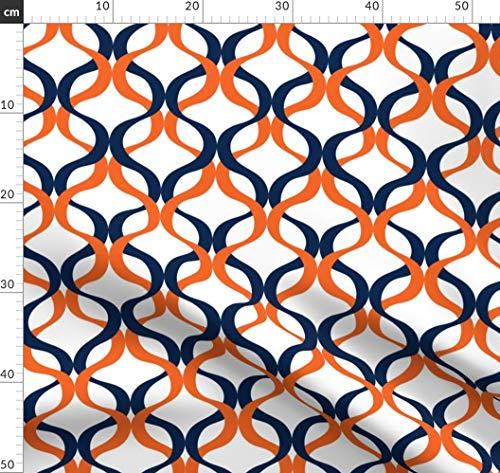 Alabama Tank (Universität, Geometrisch, Alabama, Welle Stoffe - Individuell Bedruckt von Spoonflower - Design von Rick Rack Scissors Studio Gedruckt auf Synthetik Jersey)