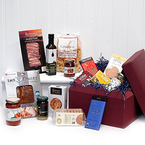 The Belgravia Organic Gift Hamper - Includes Fresh Organic Foods (15 Items) - Perfect gift idea for Birthdays, Anniversary's and Corporate Gifts