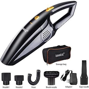 Aspirapolvere senza fili 120 W (Asciutto e Asciutto) Aspirapolvere senza filo Aspirapolvere per auto/Casa (Nero)