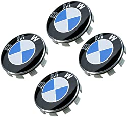 Myhonour 4X Felgendeckel Nabenkappen mit BMW/Volkswagen/Mercedes Benz Logo (2)