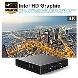 Bqeel Z83 II Mini PC Windows 10 Linux TV Box Mini Desktop-PC / Intel HD-Grafik / 2GB DDR3 + 32GB eMMC / 4K / 1000Mbps LAN / Dual-Band WiFi / Bluetooth 4.0 / USB 3.0 / HDMI / SD (Intel Atom x5-Z8350) - 2