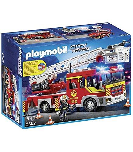 Playmobil 5362 City Action - Camion de pompiers - Véhicule évolutif...