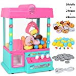 Autoparts shop Eapts Claw Machine Music Light 60S Time Candy Grabber Prize Dispenser Vending Machine Birthday For As...