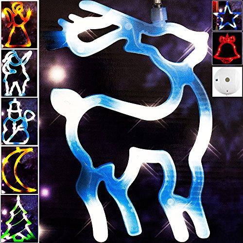 Weihnachtsdeko LED Fensterdekoration Fensterbeleuchtung Weihnachten 20cm - Mond