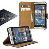Eximmobile Book Case Handytasche + Panzerglasfolie für HTC One (M9) | Schutzhülle in Schwarz mit Kartenfächer aus Kunstleder Handyhülle | Panzerglas Schutzfolie Panzerfolie Folie | Etui Cover