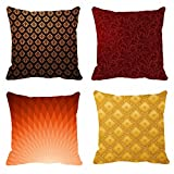 meSleep 4pc Combo Digitally Printed 16x16 inch Cushion Covers best price on Amazon @ Rs. 549