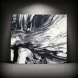 XIAOXINYUAN Minimalistisch Abstrakt Schwarz Weiß Kunst Ölmalerei auf Leinwand Wand Bilder Für Wohnzimmer Home Dekor 40 X 46 cm Ohne Rahmen