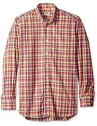 Gitman Blue Men's Plaid Button Down Sport Shirt
