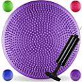 JLL® Inflatable Air Stability Balance Wobble Cushion with Pump Available in 4 colours: blue, purple, green or hot pink produced by JLL Fitness® - quick delivery from UK.