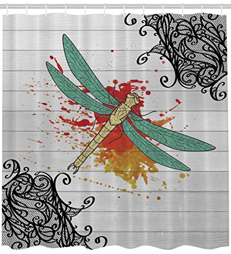 ambesonne-nature-artwork-prints-collection-colorful-dragonfly-on-rustic-wooden-planks-w-lace-assorte