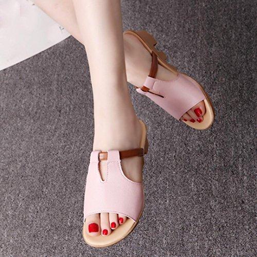 Saingace Sommer Mode Strand Slides Hausschuhe Sandalen Damen Schuhe Rosa