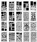 Pochoirs à Dessin,Cymax 20 Pièces Pochoir Bullet Journal plus de 1000 différents modèles,Plastique Planner Pochoir pour Journal, Scrapbook, DIY et projets artistiques,10,2 x 17,8 cm