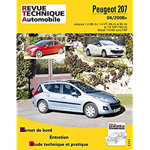 revue technique B724.6 Peugeot 207 + Cc>04/06 Ess 1.4-1.6+1.4hdi