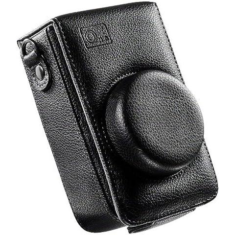 O.N.E OC-LX3E - Funda para cámaras Panasonic Lumix DMC-LX3/DMC-LX5, color negro