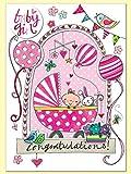 Rachel Ellen Glückwunschkarte Baby Girl Karte
