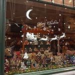 Leisial Decorazione Natalizia Parete di Finestra Albero di Natale Fiocco di Neve Muratore Finestra Casa Decor Santa Claus elk
