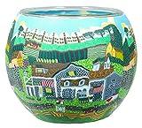 Himmlische Düfte Geschenkartikel CC238 Tischdekoration, Scottish Farm Windlicht Glas 11 x 11 x 9 cm, bunt
