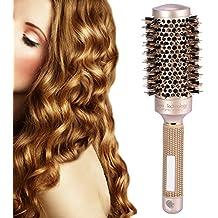 Cepillo nano cerámico iónico redondo para el secado de cabello con 4 dimensiones