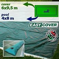 Telo di copertura invernale per piscina 4 x 8 mt con tubolari perimetrali