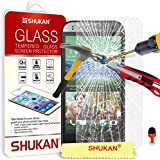 HTC One Mini 2 Tempered Glass Crystal Clear LCD Screen Protector Guard & Polishing Cloth + RED 2 IN 1 Dust Stopper SVL1 BY SHUKAN®, (TEMPERED GLASS)