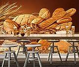 Bäckerei Tapete, Weizenbrot, 3D Moderne Wandbilder, für Restaurants, Cafes, Hintergrund Tapeten, Tapeten und Dekorationen
