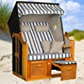 Strandkorb BALTIC BLD, Geflecht anthrazit, fertig montiert, LILIMO ®