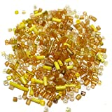 Beadsnfashion Seed Bugles Beads Yellow A...