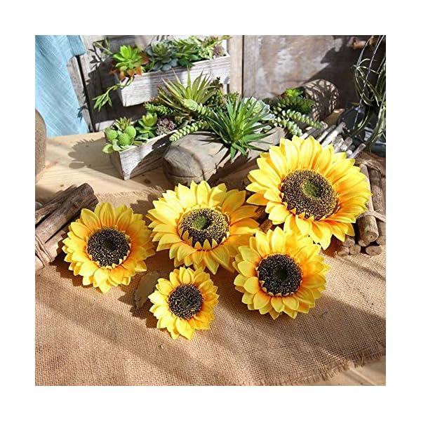 Ramo de Flores Artificiales, Girasoles Artificiales, para Bodas, hoteles, oficinas, Jardines, Manualidades, decoración…