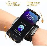 VUP - Fascia da braccio sportiva per tutti gli smartphone da 4 a 6,1 pollici, per jogging, corsa, palestra, ciclismo, escursionismo, arrampicata