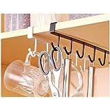 Topinon Multifunctional 6 Stainless Steel Door Organiser/Hook Hanger Pack of 2