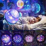 Projektor Lampe,Sternenhimmel LED Kinder Nachtlicht,360°Drehbare, 8 Muster und 3 Licht Modus, Perfekt für Kinderzimmer, Schlafzimmer, Geburtstag, Party