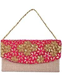 Arisha Kreation Co Women's Clutches (AK-1156, Pink)