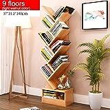 GRY Einfaches modernes Bücherregal-Bücherregal-Regal, das kreative Baum-Form mit Fach landet,9 Stockwerke,*3*