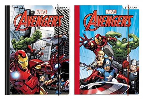 Marvel Avengers Mappen mit Gummizug Ordner 2er Set
