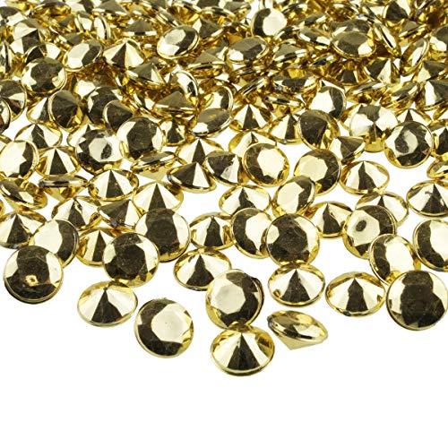 goodymax® Deko Diamanten 12 mm Gold 100 Stück - Streudeko Deko Steine Kristalle Diamanten