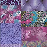 Decopatch Mixed Art Paper Packs for Decoupage and Other Craft Projects - PURPLE (mini sheets)