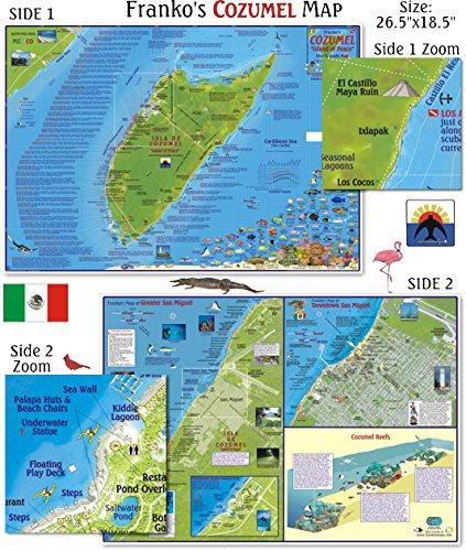 Preisvergleich Produktbild Franko Maps Cozumel Dive Map for Scuba Divers and Snorkelers