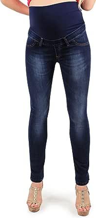 Milano Deluxe - Jeggings Premaman, Modello Skinny, Super Elasticizzato, Jeans Riutilizzabile Dopo Il Parto - Made in Italy
