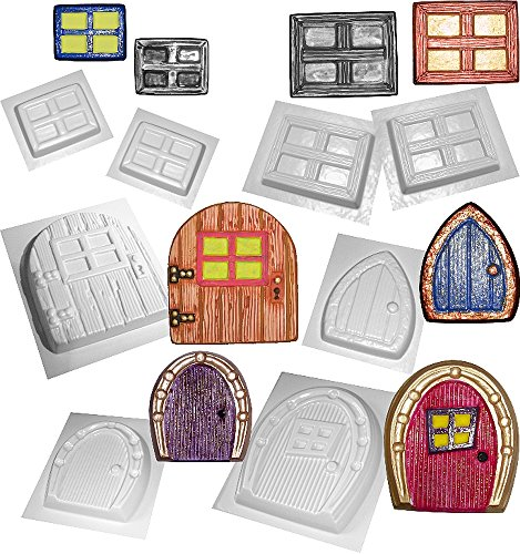fairy-door-and-window-moulds-set-of-8-concrete-or-plaster-molds